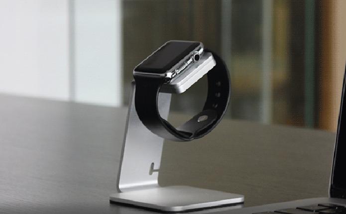 Acessório possui dock específica para carregar o Apple Watch (Foto: Reprodução/Indiegogo)