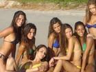 Daniella Sarahyba posta foto e recorda ensaio com tops brasileiras