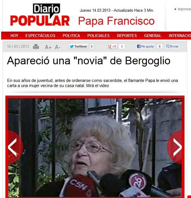 Amalia dá entrevista a TVs locais no bairro de Flores, em Buenos Aires (Foto: Reprodução)