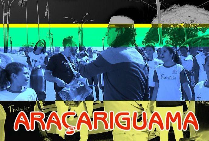 Marcão foi contagiado pelo ritmo do Timbalata em Araçariguama (Foto: Reprodução/TV TEM)
