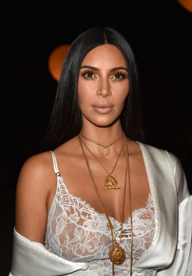 Kim Kardashian momentos antes do assalto (Foto: Getty)