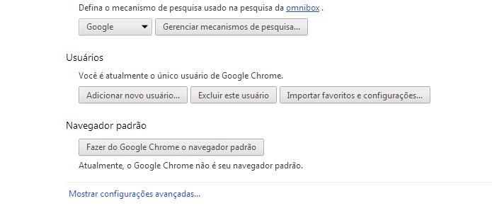 Acessando a opção Configurações avançadas do Chrome (Foto: Reprodução/Edivaldo Brito)