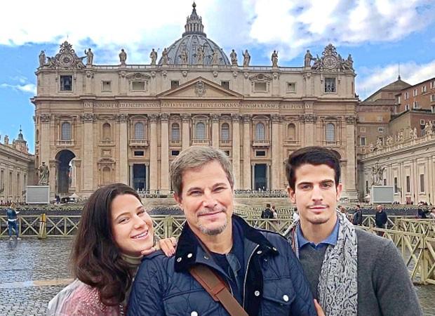 Edson Celulari com os filhos, Sophia e Enzo (Foto: Reprodução/Instagram)
