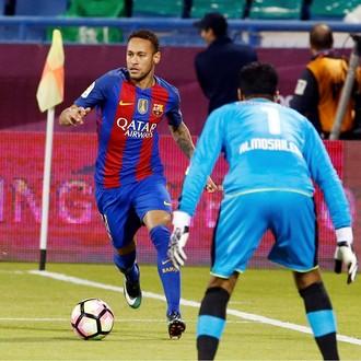 Neymar, Al Ahli x Barcelona (Foto: Reprodução / Facebook)