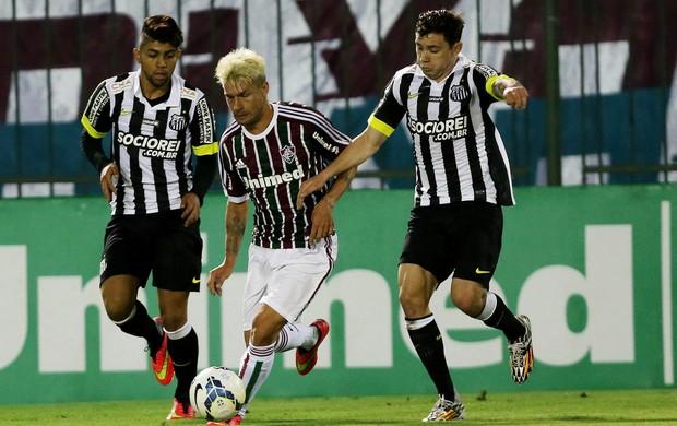 Santos Rafael Sobis Fluminense Série A (Foto: Matheus Andrade / Photocamera)