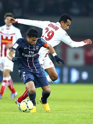 Thiago Silva, PSG e Ajaccio (Foto: Agência AFP)