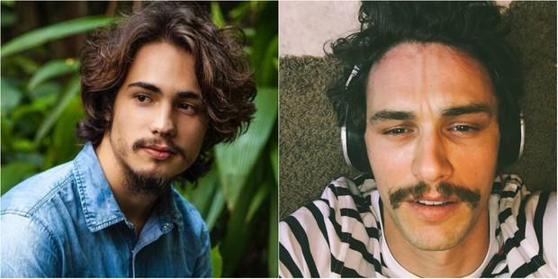 Danilo Mesquita viverá o músico Nicolau na novela Rock Story e comenta semelhança física com James Franco (Foto: Reprodução do Instagram)