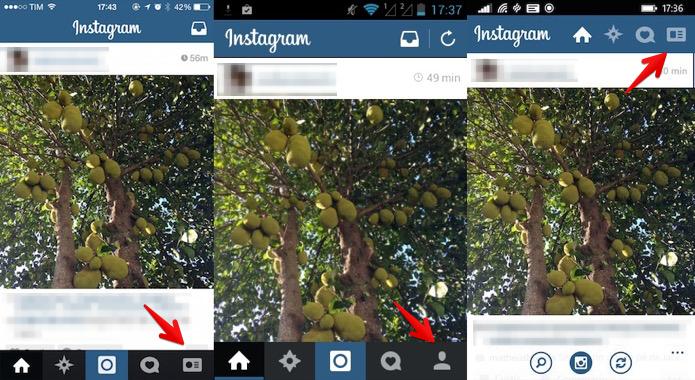 Abra o Instagram e acesse o seu perfil (Foto: Reprodução/Helito Bijora)