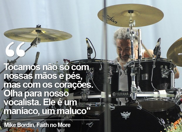 Mike Bordin, baterista do Faith no More (Foto: Flavio Moraes / G1)