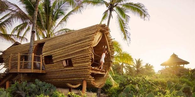 Hotel em praia mexicana tem suíte feita de bambu (Foto: Reprodução)