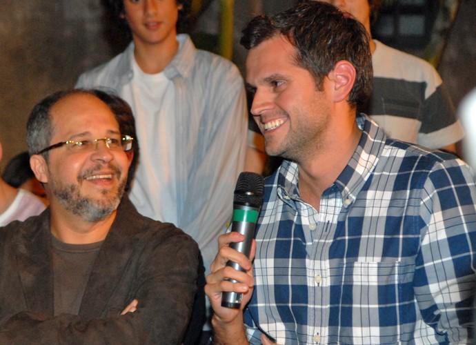 Emanuel Jacobina e Leonardo Nogueira trabalharam juntos na Malhação de 2010 (Foto: João Cotta/TV Globo)