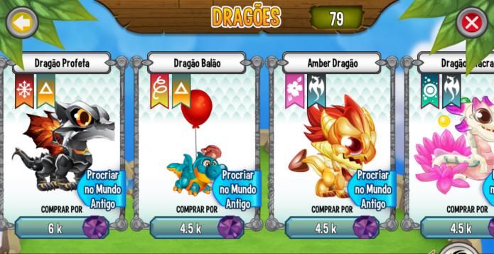 Dragon City: o nível dos pais e a sorte são os elementos que definem o tipo de dragão que irá nascer (Foto: Reprodução/Dragon City Rei)
