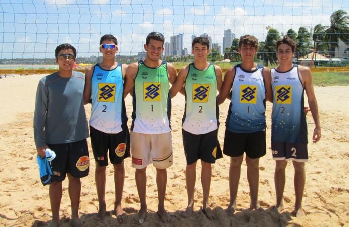 Circuito Paraibano de vôlei de praia, sub-19 (Foto: Divulgação / FPV)