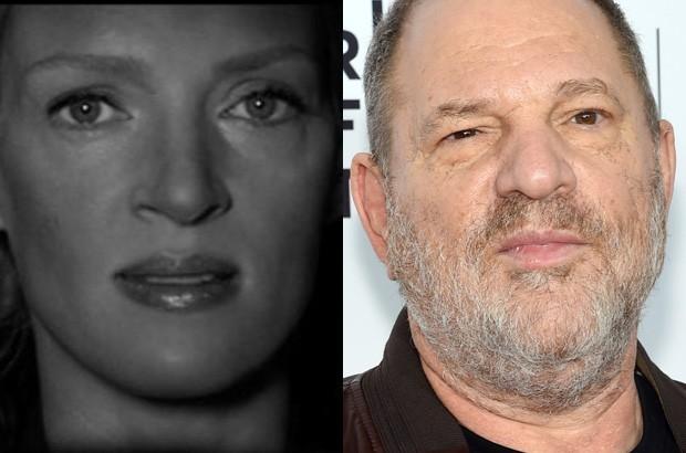 Uma Thurman e Harvey Weinstein (Foto: Reprodução/Instagram e Getty Images)