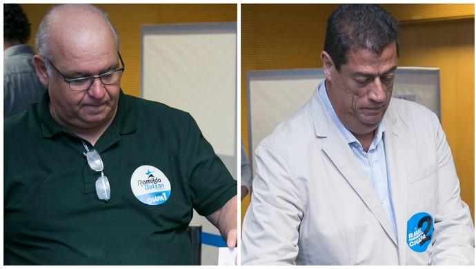 Romildo Bolzan Júnior Raul Mendes eleição presidente Grêmio (Foto: Luciano Amoretti/Grêmio)