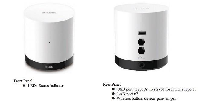 DCH-G020, da D-Link, usa tecnologias Z-Wave e Wi-Fi (Foto: Reprodução/FCC)