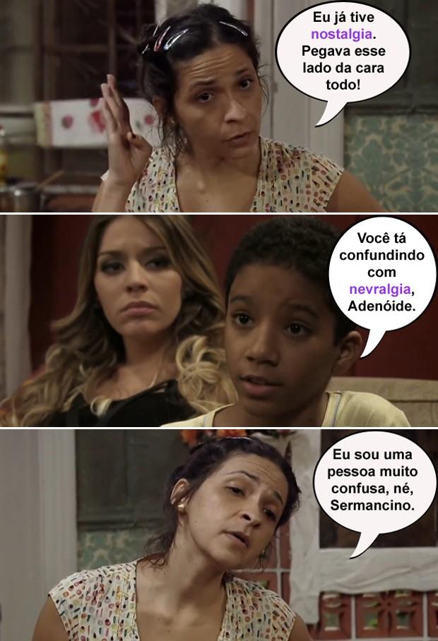 Adenóide conta o problema que a nostalgia lhe causou (Foto: Pé na Cova / TV Globo)