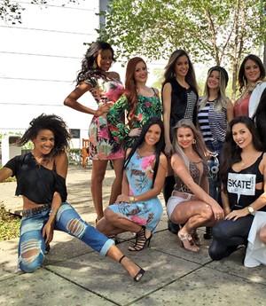 No detalhe: veja de perto os looks das participantes do concurso (Guilherme Toscano / Gshow)