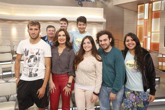 Fátima com parte da plateia que participou do 'Encontro'  (Foto: Ellen Soares/Gshow)