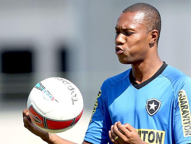 Brinner no treino do Botafogo (Foto: Satiro Sodré / Agif)
