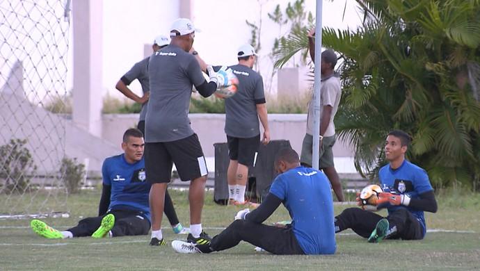 Treze, goleiros em treinamento (Foto: Reprodução / TV Paraíba)