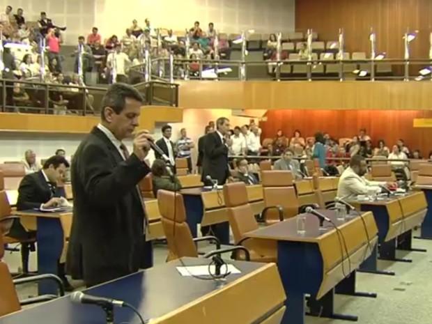Vereadores aprovam em 1ª votação projeto que aumenta duas cadeiras na Casa em Goiânia Goiás (Foto: Reprodução/TV Anhanguera)