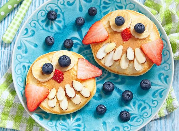 """Hora do café da manhã: a sugestão é essa panqueca """"vestida"""" de coruja (Foto: ThinkStockPhotos)"""