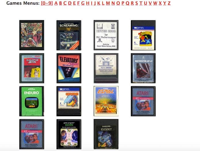 Selecione seu jogo favorito do Atari (Foto: Reprodução/Felipe Vinha)