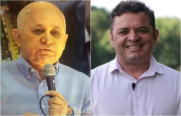 Candidato Djalma Araújo (Rede) e seu vice, Valmiro Batista (Rede) (Foto: Montagem/G1)