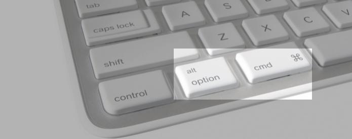 O Mac possui duas teclas diferentes do PC: Command e Option (Foto: Montagem/Edivaldo Brito)