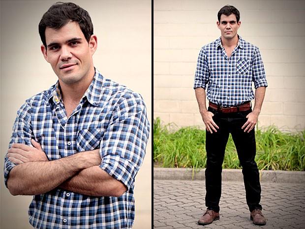 Juliano Cazarré se declara para a esposa (Foto: Avenida Brasil / TV Globo)
