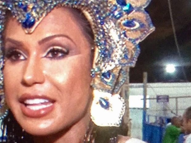 Gracyanne Barbosa é rainha de bateria da X-9 Paulistana e destaque na Portela (Foto: Affonso Andrade / Reprodução)