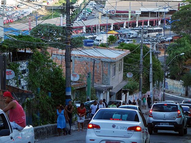 Ladeira do Pau Miúdo (Foto: Egi Santana/G1)