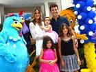 Rodrigo Faro comemora aniversário de caçulinha em casa de festas