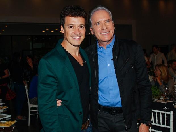 Rodrigo Faro e Roberto Justus em evento em São Paulo (Foto: Marcos Ribas/ Foto Rio News)