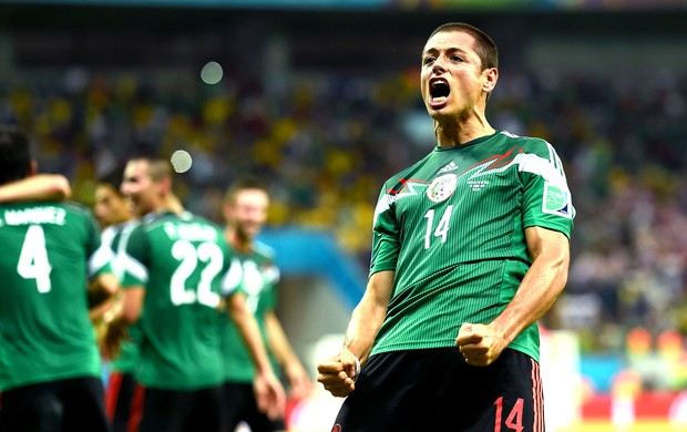 Javier Hernandez gol México x Croácia (Foto: Getty Images)