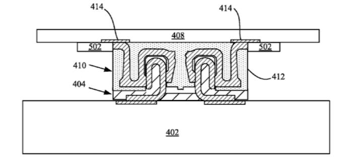 Desenho mais detalhado mostra como acontece a impermeabilização (Foto: Reprodução/USPTO)