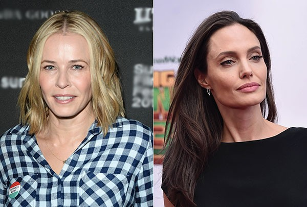 Chelsea Handler e Angelina Jolie (Foto: Getty Images)