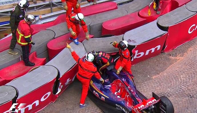 Max Verstappen acidente Mônaco (Foto: Reprodução/TV Globo)