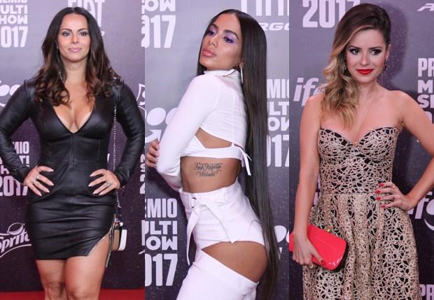 Viviane Araújo, Anitta e Sandy (Foto: AgNews)