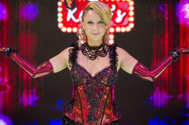 Katiuscia Canoro como Lady Kate (Foto: Raphael Dias/TV Globo)