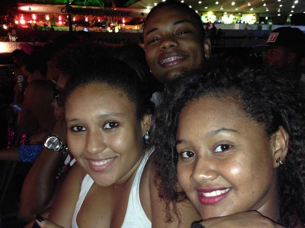 Imira Cunha, 19, Railym Fonseca, 19, Vinícius Rodrigues, 17 (Foto: Rafaela Ribeiro/G1)
