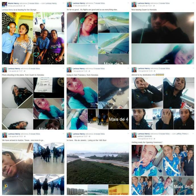 Lerissa Henry Micronésia Atletismo facebook (Foto: Reprodução)