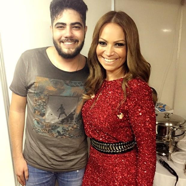 Solange Almeida com o sertanejo Henrique, da dupla com Juliano (Foto: Instagram/ Reprodução)