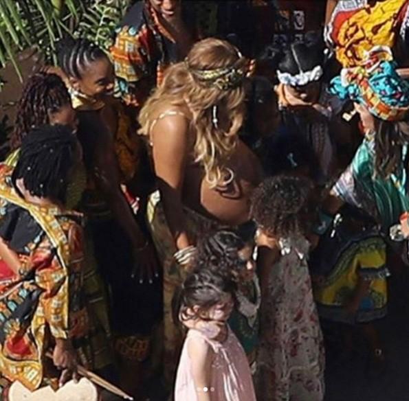 Beyoncé é clicada por uma fã  (Foto: Reprodução/Instagram)