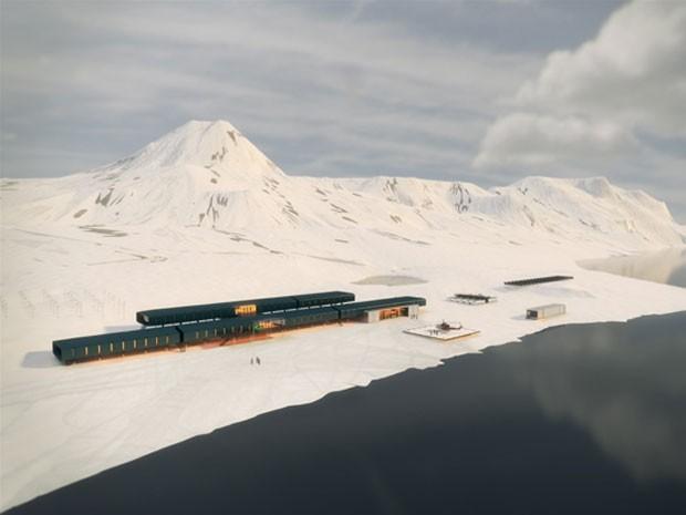 Projeto de Curitiba venceu o concurso que fará estação do Brasil na Antártica (Foto: Divulgação / Marinha do Brasil)