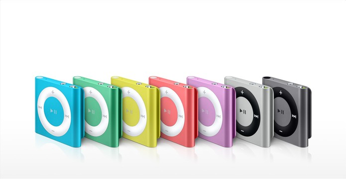 iPod Shuffle é a versão mais compacta e barata, sem display (Foto: Divulgação/Apple)
