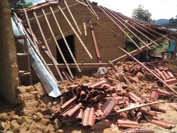 Mais de 110 pessoas kalungas ficaram desalojadas em Cavalcante, em Goiás (Foto: Divulgação/ Defesa Civil)