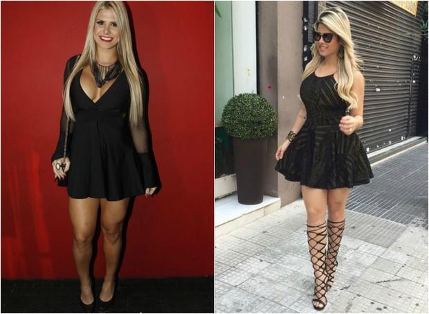 Julia Nunes antes e depois de perder sete quilos (Foto: Celso Tavares/EGO/Instagram)
