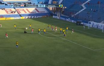 Árbitro da vitória do Brasil no sub-20 cai de costas durante partida. Veja!